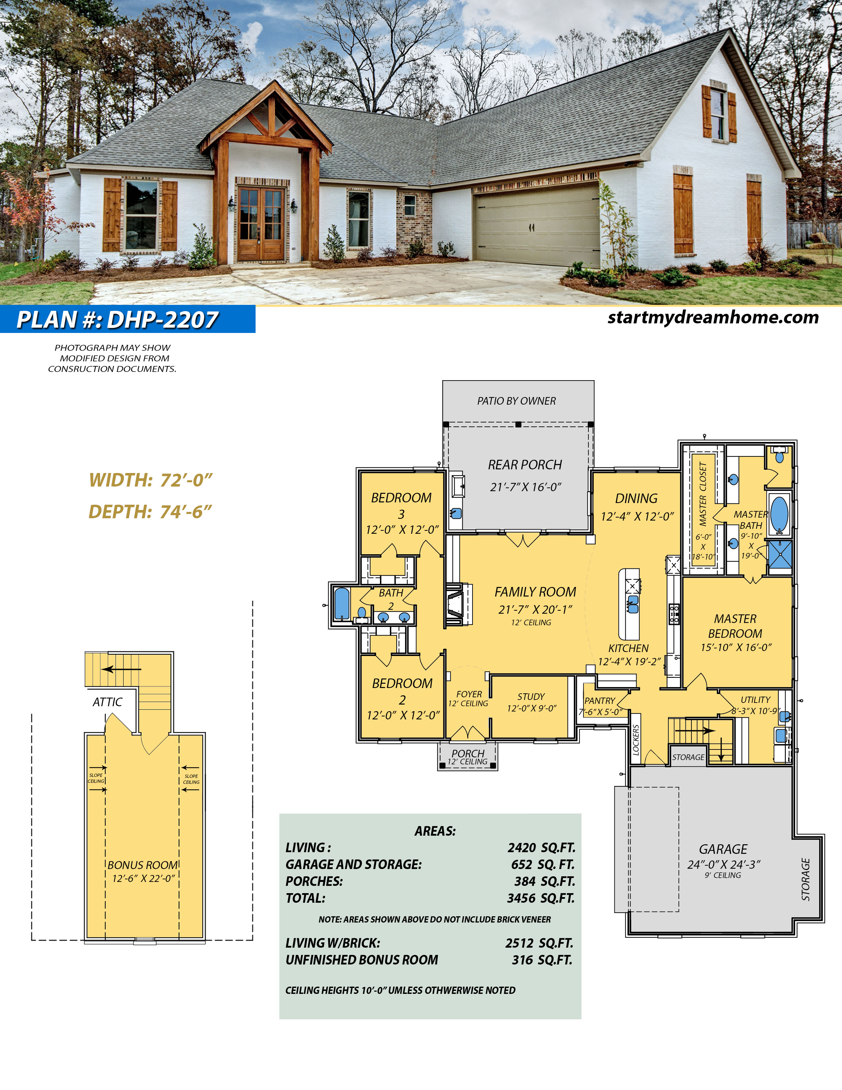 Dream Home Plan 2207 - Start My Dream Home